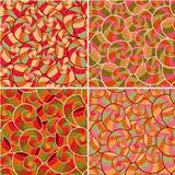 Abstract Doodle Seamless Pattern Set