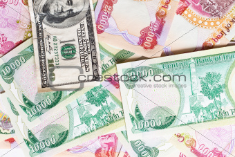Iraqi Dinar and a hundred dollars