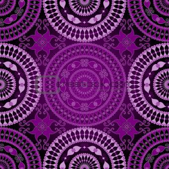 Seamless dark lace pattern