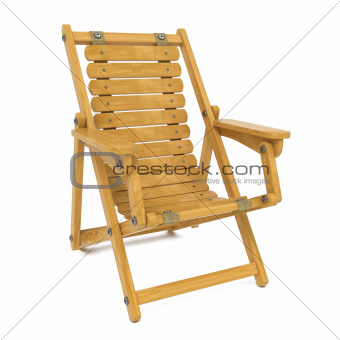 Deckchair on White Background.