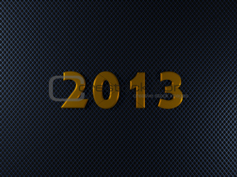 2013 New Year sign on wire metal background