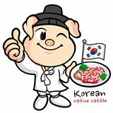 Pig character wearing Hanbok, Korean promotional activities