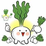 Sales activities in radish. Vegetables Character Design