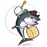Korean dance a tuna Character Design. Fresh Character Design