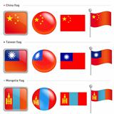 China and Taiwan, Mongol Flag Icon