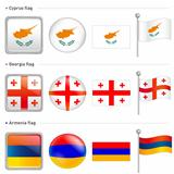 Cyprus and Georgia, Armenia Flag Icon