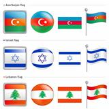 Azerbaijan and Israel, Lebanon Flag Icon
