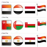 Oman and Yemen, Egypt Flag Icon