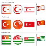 Northern Cyprus and Abkhazia, Turkey Flag Icon