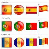 Spain and Portugal, Andorra Flag Icon
