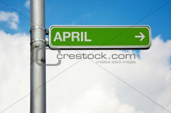 Street sign - April