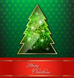 Christmas tree wallpaper with red banner