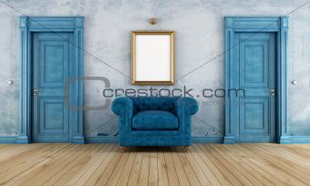 Blue vintage room