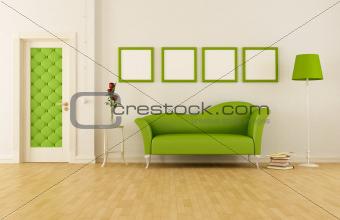 Green classic livingroom