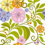 Vivid floral pattern