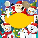 The colorful christmas - greeting card