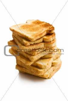 pile of white toasted bread