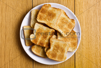 white toasted bread on plate