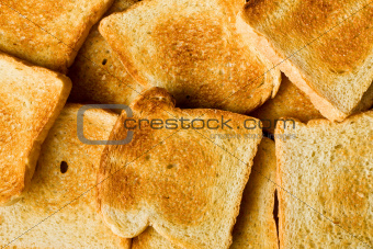 heap of toasted bread