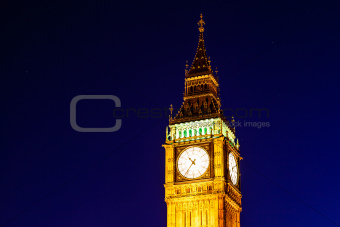 Big Ben and Clock Tower in the Night, London, United Kingdom