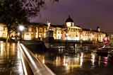 National Gallery and Trafalgar Square in the Night, London, Unit