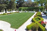 Jekyll Island garden & decorative hedge area