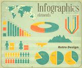 Vintage infographic elements