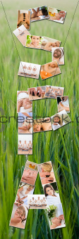 Montage of Beautiful Women at Health Spa