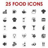 Food icons basics series vector