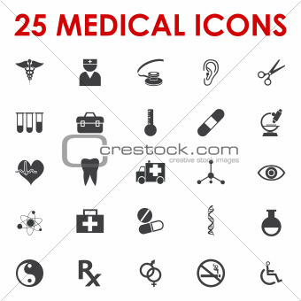 Healhy icons vector