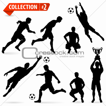 Silhouettes Football Players