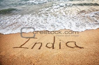 India on the beach