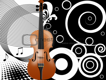 Abstract background with a violin
