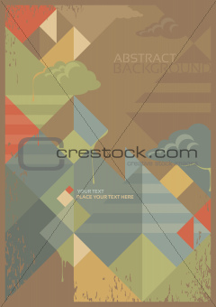 abstract background in retro style