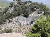 Greek amphitheater  in ancient Pinara.