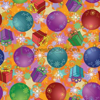 Christmas balls, seamless