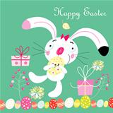card with the Easter Bunny