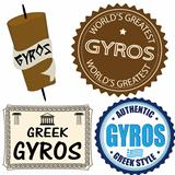 Set of gyros labels