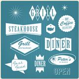 Vintage restaurant logo, badges and labels