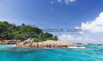 The island of dreams. Rest and relaxation. La Digue