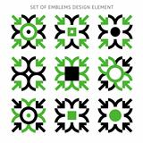 Set of emblems design element-01