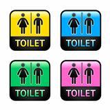 Restroom symbols