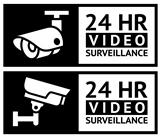 Video surveillance stickers set