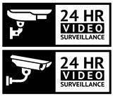 Video surveillance stickers