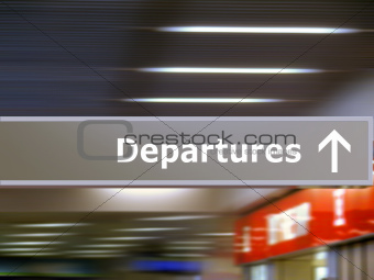Tourist info sign departures