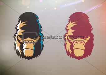 Gorilla smirk face