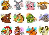chinese cartoon zodiac signs
