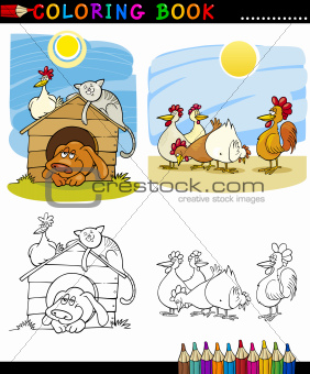 Farm and Companion Animals for Coloring
