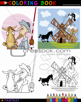 Don Quixote for coloring