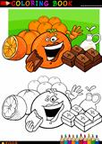 oranges and chocolate for coloring
